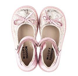 Детские туфлі Woopy Orthopedic розовые для девочек  натуральная кожа и нубук размер 19-36 (5119) Фото 5