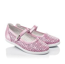 Детские туфли Woopy Fashion розовые для девочек натуральный нубук размер 28-35 (5120) Фото 1