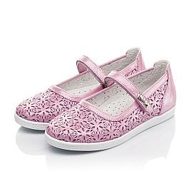 Детские туфли Woopy Fashion розовые для девочек натуральный нубук размер 28-35 (5120) Фото 3