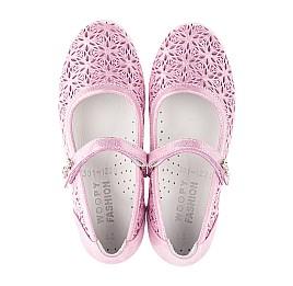 Детские туфли Woopy Fashion розовые для девочек натуральный нубук размер 28-35 (5120) Фото 5