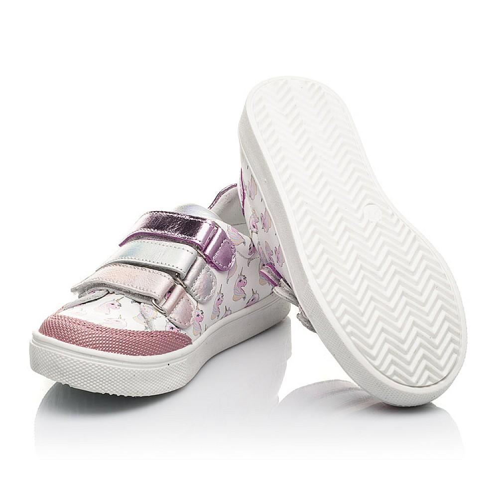 Детские кеды Woopy Fashion розовые для девочек натуральная кожа размер 18-35 (5121) Фото 2