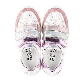Детские кеды Woopy Fashion розовые для девочек натуральная кожа размер 18-35 (5121) Фото 4