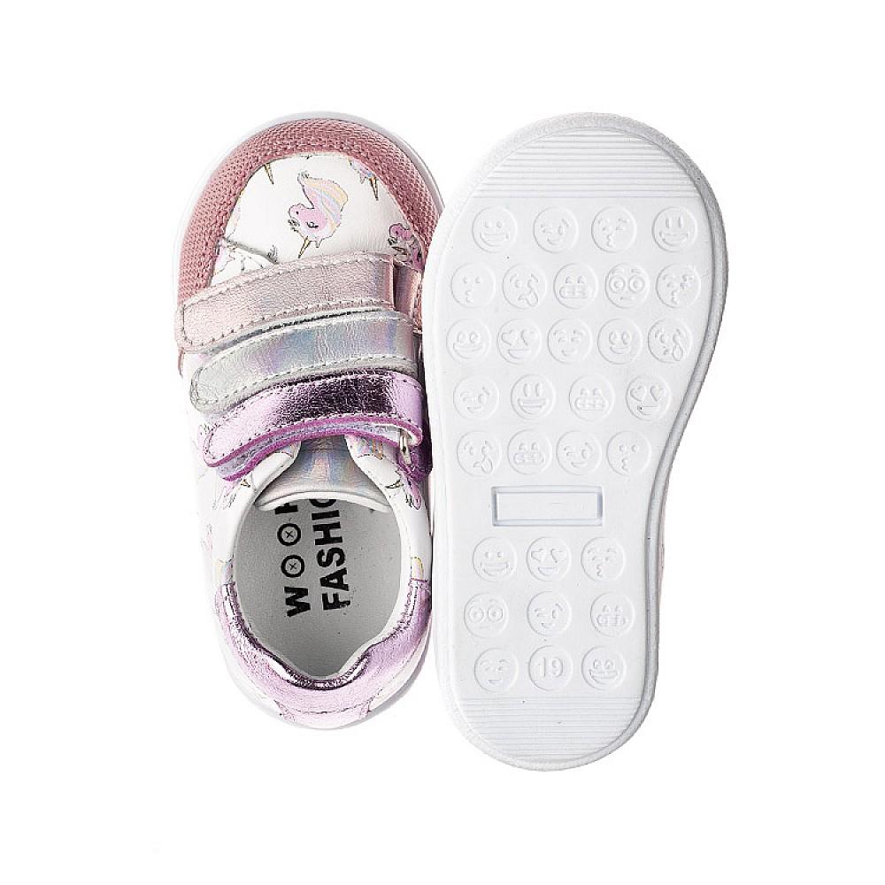 Детские кеды Woopy Fashion розовые для девочек натуральная кожа размер 18-35 (5121) Фото 5