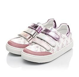 Детские кеды Woopy Fashion розовые для девочек натуральная кожа размер 18-35 (5121) Фото 6