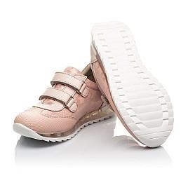 Детские кроссовки Woopy Fashion пудровые для девочек  натуральная кожа и нубук размер 20-34 (5122) Фото 2