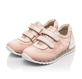 Детские кросівки Woopy Fashion пудровые для девочек  натуральная кожа и нубук размер 20-35 (5122) Фото 3