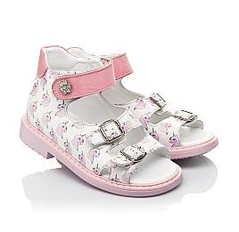 Детские босоножки Woopy Orthopedic розовые для девочек натуральная кожа размер 18-25 (5123) Фото 1