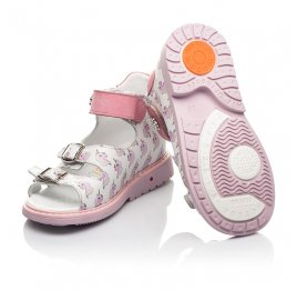 Детские босоножки Woopy Orthopedic розовые для девочек натуральная кожа размер 18-25 (5123) Фото 2