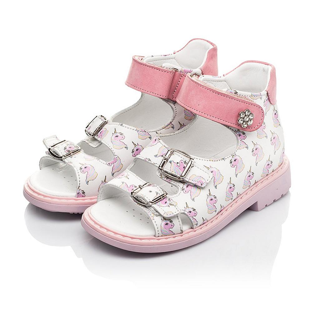 Детские босоножки Woopy Orthopedic розовые для девочек натуральная кожа размер 18-34 (5123) Фото 3