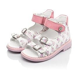 Детские босоніжки Woopy Orthopedic розовые для девочек натуральная кожа размер 18-34 (5123) Фото 3