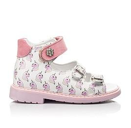 Детские босоножки Woopy Orthopedic розовые для девочек натуральная кожа размер 18-25 (5123) Фото 4