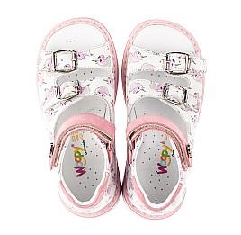 Детские босоножки Woopy Orthopedic розовые для девочек натуральная кожа размер 18-25 (5123) Фото 5