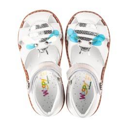 Детские босоніжки Woopy Orthopedic белые для девочек натуральная кожа размер 22-28 (5125) Фото 5