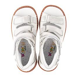 Детские ортопедичні босоніжки (з високим берцями) Woopy Orthopedic белые для девочек натуральная кожа размер 22-33 (5126) Фото 5