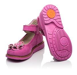 Детские туфлі Woopy Orthopedic розовые для девочек натуральный нубук размер 19-33 (5127) Фото 2