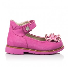 Детские туфлі Woopy Orthopedic розовые для девочек натуральный нубук размер 19-33 (5127) Фото 4