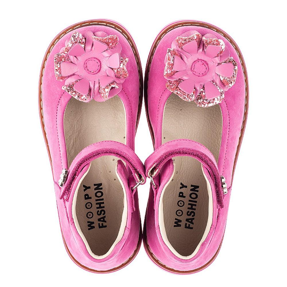 Детские туфли Woopy Orthopedic розовые для девочек натуральный нубук размер 19-33 (5127) Фото 5
