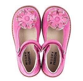 Детские туфлі Woopy Orthopedic розовые для девочек натуральный нубук размер 19-33 (5127) Фото 5