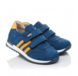 Детские кроссовки Woopy Fashion синие для мальчиков натуральный нубук размер 19-33 (5128) Фото 1