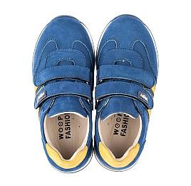 Детские кроссовки Woopy Fashion синие для мальчиков натуральный нубук размер 19-33 (5128) Фото 5
