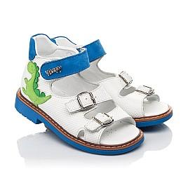 Детские босоножки Woopy Orthopedic белые для мальчиков натуральная кожа размер 19-30 (5129) Фото 1