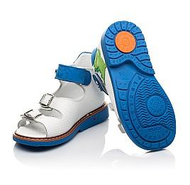 Детские босоніжки Woopy Orthopedic белые для мальчиков натуральная кожа размер 19-30 (5129) Фото 2