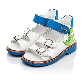 Детские босоніжки Woopy Orthopedic белые для мальчиков натуральная кожа размер 19-30 (5129) Фото 3