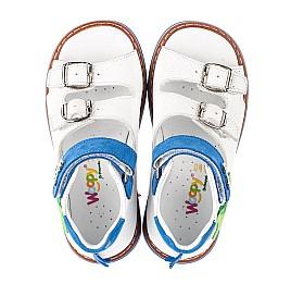 Детские босоножки Woopy Orthopedic белые для мальчиков натуральная кожа размер 19-30 (5129) Фото 5