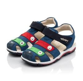 Детские босоножки Woopy Fashion синие для мальчиков натуральный нубук размер 24-31 (5130) Фото 3