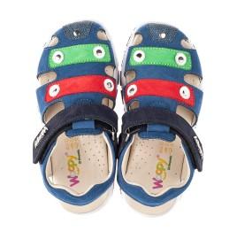 Детские босоножки Woopy Fashion синие для мальчиков натуральный нубук размер 24-31 (5130) Фото 5
