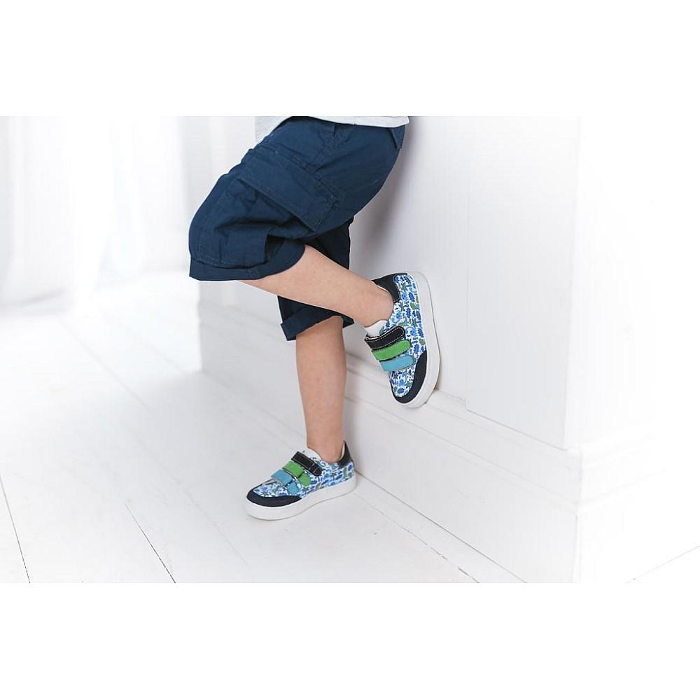 Детские кеды Woopy Fashion разноцветные для мальчиков натуральная кожа размер 18-28 (5131) Фото 7