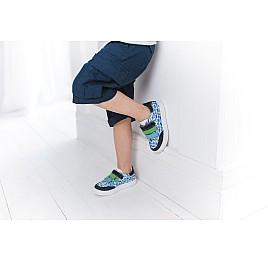 Детские кеды Woopy Fashion разноцветные для мальчиков натуральная кожа размер 18-27 (5131) Фото 7