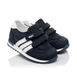 Детские кроссовки Woopy Fashion синие для мальчиков натуральный нубук и кожа размер 19-30 (5132) Фото 1