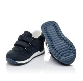 Детские кроссовки Woopy Fashion синие для мальчиков натуральный нубук и кожа размер 19-30 (5132) Фото 2