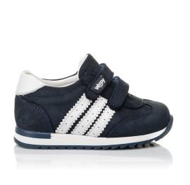 Детские кроссовки Woopy Fashion синие для мальчиков натуральный нубук и кожа размер 19-30 (5132) Фото 4