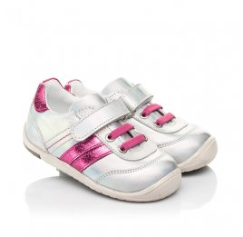 Детские кроссовки Woopy Fashion серебряные для девочек натуральная кожа размер 19-25 (5134) Фото 1