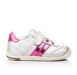 Детские кроссовки Woopy Fashion серебряные для девочек натуральная кожа размер 19-25 (5134) Фото 4