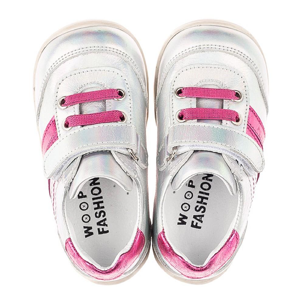 Детские кроссовки Woopy Fashion серебряные для девочек натуральная кожа размер 19-25 (5134) Фото 5