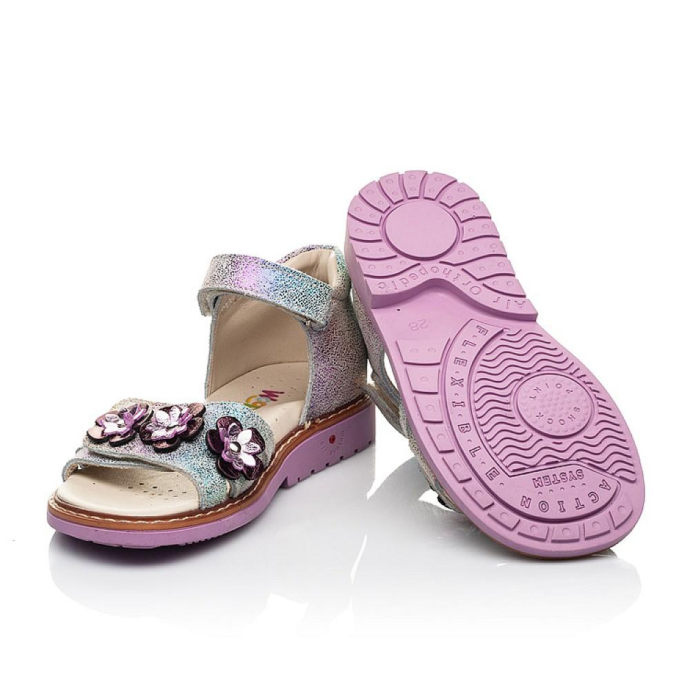 Детские босоножки Woopy Orthopedic фиолетовые для девочек натуральный нубук размер 26-35 (5139) Фото 2