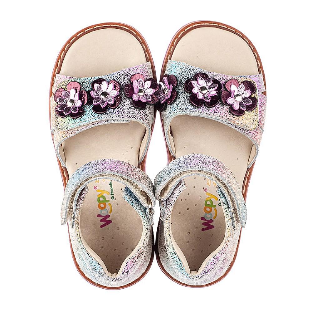 Детские босоножки Woopy Orthopedic фиолетовые для девочек натуральный нубук размер 26-35 (5139) Фото 5