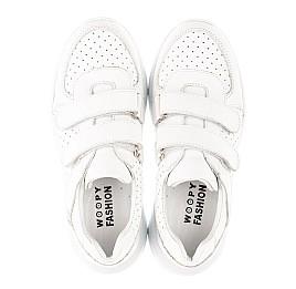 Детские кроссовки Woopy Fashion белые для девочек натуральная кожа размер 31-39 (5140) Фото 5