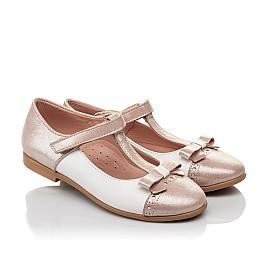 Детские туфли Woopy Fashion пудровые для девочек  натуральная кожа и нубук размер 26-37 (5142) Фото 1