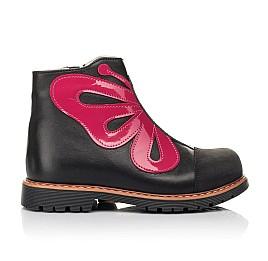 Детские  Woopy Fashion черные для девочек натуральная кожа размер 24-32 (5143) Фото 3