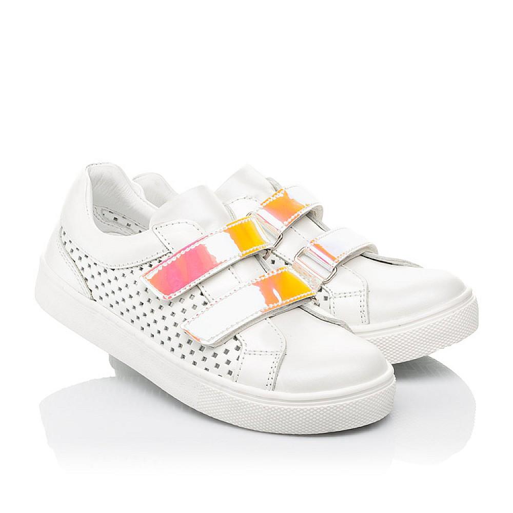 Детские кеды Woopy Fashion белые для девочек натуральная кожа размер 23-37 (5144) Фото 1