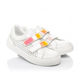 Детские кеды Woopy Fashion белые для девочек натуральная кожа размер 23-26 (5144) Фото 1