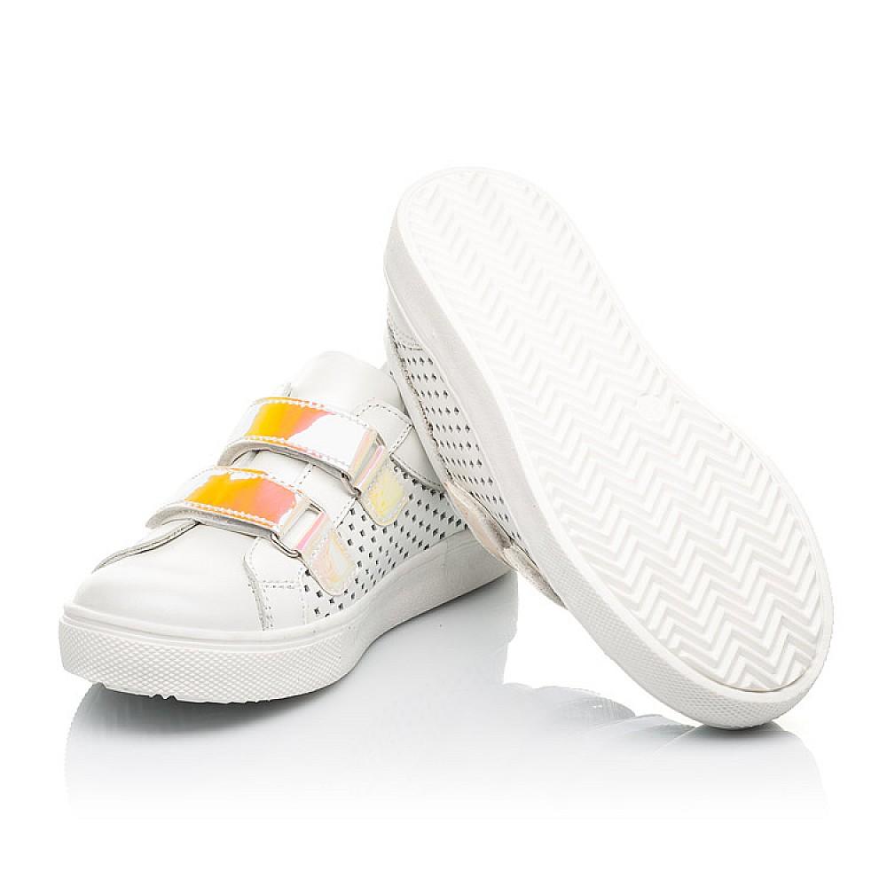 Детские кеды Woopy Fashion белые для девочек натуральная кожа размер 23-37 (5144) Фото 2
