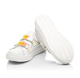 Детские кеды Woopy Fashion белые для девочек натуральная кожа размер 23-26 (5144) Фото 2