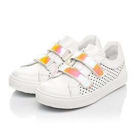 Детские кеды Woopy Fashion белые для девочек натуральная кожа размер 23-26 (5144) Фото 3