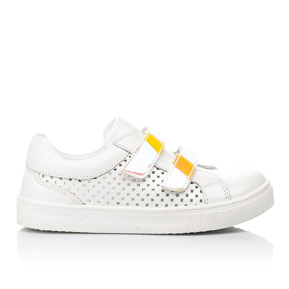 Детские кеды Woopy Fashion белые для девочек натуральная кожа размер 23-37 (5144) Фото 4