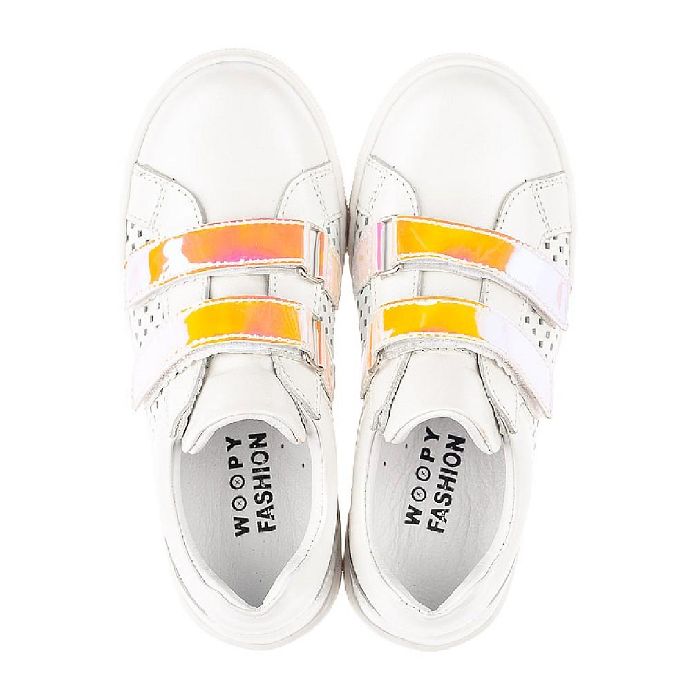 Детские кеды Woopy Fashion белые для девочек натуральная кожа размер 23-37 (5144) Фото 5